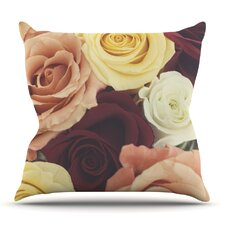 Vintage Roses by Libertad Leal Outdoor Throw Pillow by East Urban Home