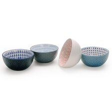 Chervil 28 oz. 4 Piece Pad Print Bowl Set