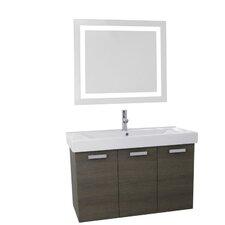 Cubical 39.4 Single Bathroom Vanity Set with Mirror by Nameeks Vanities