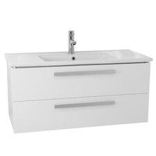 Dadila 32.7 Single Wall Mount Bathroom Vanity Set by Nameeks Vanities