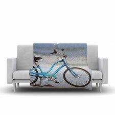 Angie Turner Beach Bike Fleece Blanket