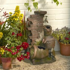 3 Tier Jug Water Fountain with Light