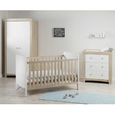 Fontana Ice 3 Piece Convertible Cot Set