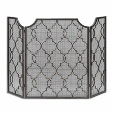 Charlie 3 Panel Metal Fireplace Screen