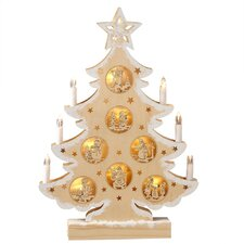 Christmas Craft Lighted LED Tree with Candles