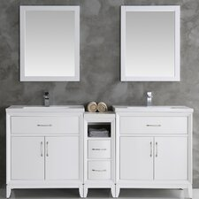 Cambridge 68 Double Bathroom Vanity Set with Mirror by Fresca