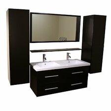 48 Double Bathroom Vanity Set with Mirror by Kokols