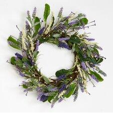 "Lavender Leaves Twig 20"" Wreath"