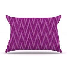 Plum Purple Chevron by Amanda Lane Lavender Fuchsia Featherweight Pillow Sham