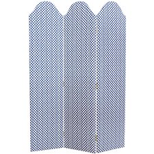 """Orndorff 72"""" x 49"""" Adult Curved Screen 3 Panel Room Divider"""