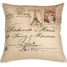 Postcard to Paris Throw Pillow