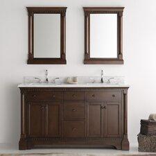 Kingston 60 Double Sink Bathroom Vanity Set with Mirror by Fresca