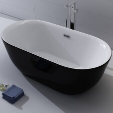 "Lamone 66"" x 31.25"" Freestanding Soaking Bathtub"