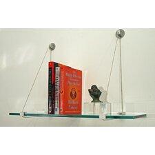 Floating Glass Shelves Wall Shelf by Spancraft Glass