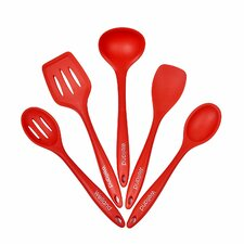5 Piece Premium Silicone Kitchen Utensil Set