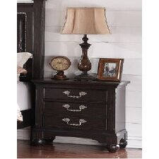 Mulberry 3 Drawer Nightstand by A&J Homes Studio