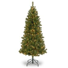Canadian Grande 7' Green Fir Artificial Christmas Tree with 300 Clear/White Light with Stand