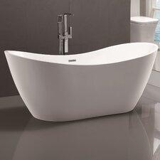 "71"" x 31.5"" Freestanding Soaking Bathtub"