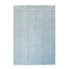 Handgewebter Teppich Aperitif 410 in Türkis