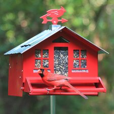 Squirrel-Be-Gone Country Style Hopper Bird Feeder