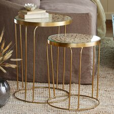 Eucalyptus 2 Piece Nesting Tables by VivaTerra