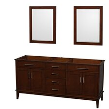 Hatton 70.75 Double Bathroom Vanity Base by Wyndham Collection
