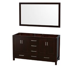 Sheffield 59 Double Bathroom Vanity Base by Wyndham Collection