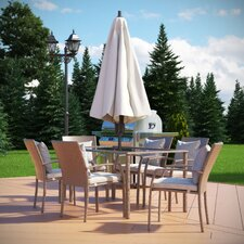 Gretna 7 Piece Dining Set with Cushion by Beachcrest Home™