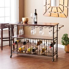 Dalton Kitchen Island with Wooden Top