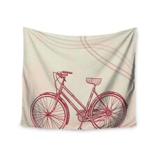 """""""Bicycle"""" by Sam Posnick Wall Tapestry"""