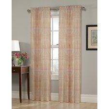 Heather Paisley Sheer Rod Pocket Single Curtain Panel