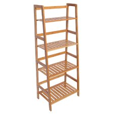 Bamboo 4 Shelf 47 Standard Bookcase by LNC Home