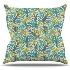 Tropical Leaves by Julia Grifol Outdoor Throw Pillow by East Urban Home