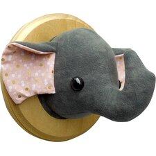 Elephant Faux Taxidermy 3D Wall Décor