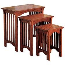 Peru 3 Piece Nesting Table Set