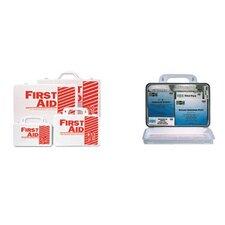 10 Person Industrial First Aid Kits - 10 person plastic first-aid kit w/eyewash