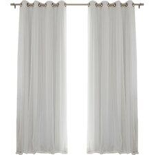 Gregg Solid Sheer Thermal Grommet Curtain Panels (Set of 2)
