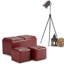 Avalon 5 Piece Rectangular Storage Ottoman Set by Simpli Home