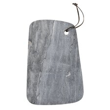Marble Cutting Board with Leather Strap