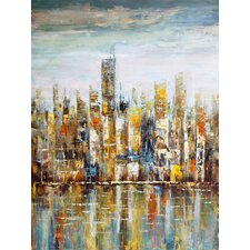 'Wall Décor Downtown' Painting Print on Wrapped Canvas