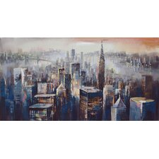 'Wall Décor City Dusk' Painting Print on Wrapped Canvas