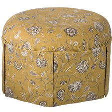 Blenheim Round Skirted Ottoman by Darby Home Co