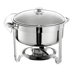 7.5L Round Chafing Dish with Glass Lid
