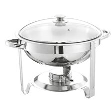 5L Round Chafing Dish with Glass Lid