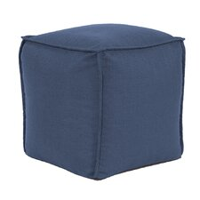 Glendale Square Pouf Sterling Ottoman by Beachcrest Home