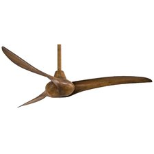 """52"""" Wave 3-Blade Ceiling Fan with Handheld Remote"""