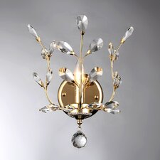 Ollie Crystal 1-Light Candle Wall Sconce