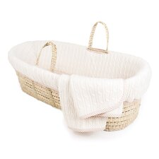 Cable Knit Moses Basket