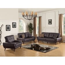 Wintersburg 3 Piece Leather Living Room Set