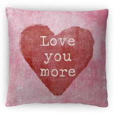 Love You More Fleece Throw Pillow by Kavka